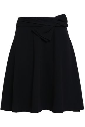 CLAUDIE PIERLOT Bow-detailed crepe mini skirt