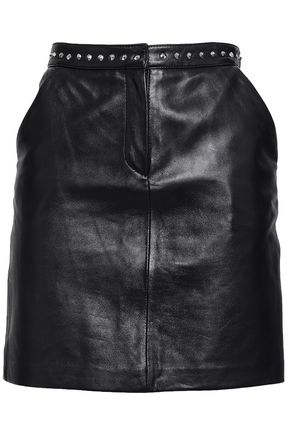 CLAUDIE PIERLOT Studded leather mini skirt