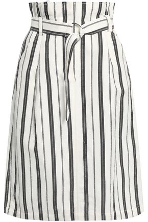 CLAUDIE PIERLOT Symphonie striped bouclé skirt