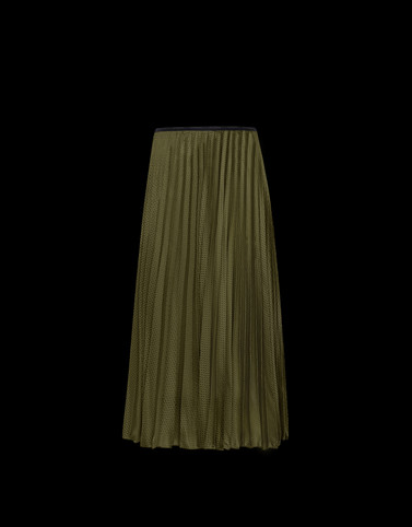 SKIRT Military green Category Long skirts Woman