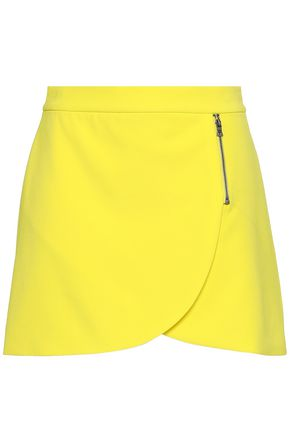 ALICE + OLIVIA Zip-detailed crepe mini skirt