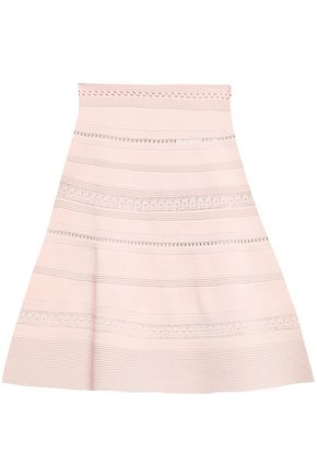 SANDRO Flared knitted mini skirt