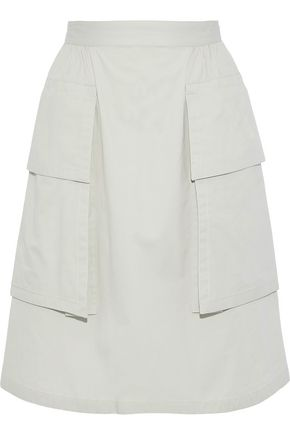 NINA RICCI Flared cotton-twill skirt