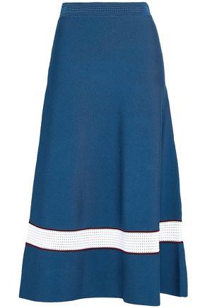 SANDRO Crochet-trimmed knitted midi skirt