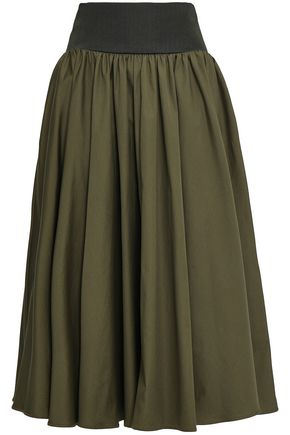 ROKSANDA Cotton-poplin midi skirt