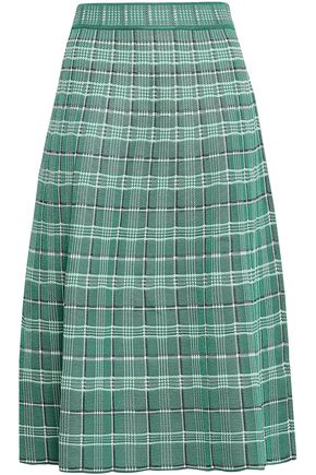 M MISSONI Tartan knitted midi skirt