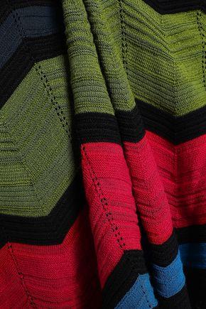 M MISSONI Striped crochet-knit skirt