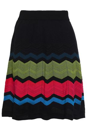 M MISSONI Striped crochet-knit skirt