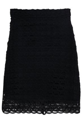 SANDRO Crochet-knit mini skirt