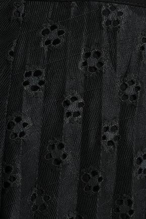 SANDRO Pleated crochet-knit wrap midi skirt