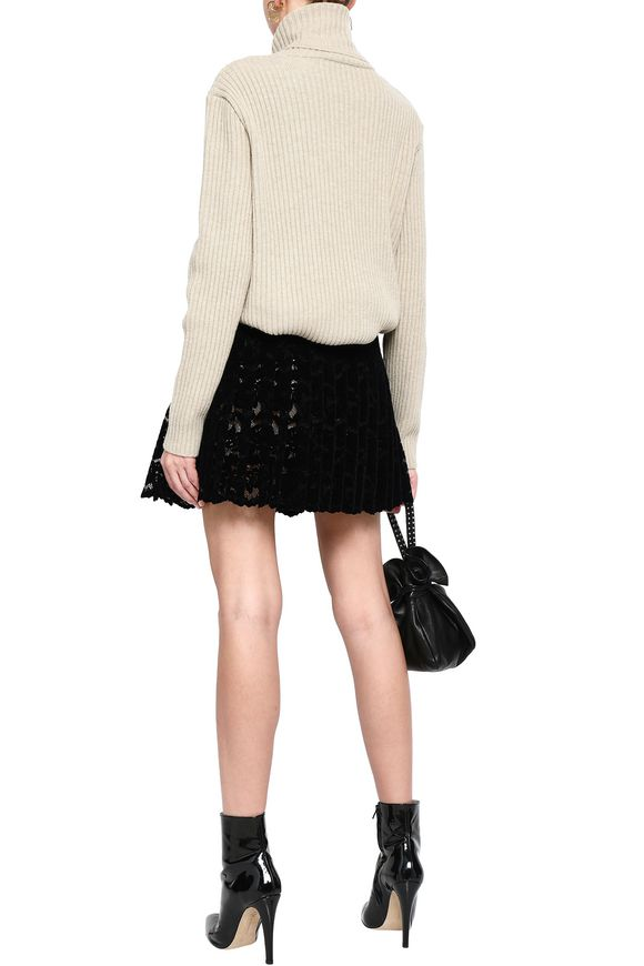 b8d1128d3c Pleated flocked lace mini wrap skirt | CHRISTOPHER KANE | Sale up to ...