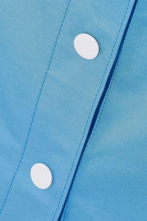 SANDRO Plume cotton-twill midi skirt