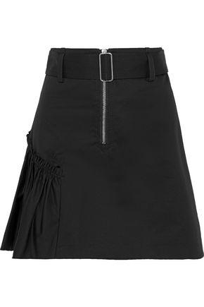 SANDRO Vona belted cotton-twill mini skirt