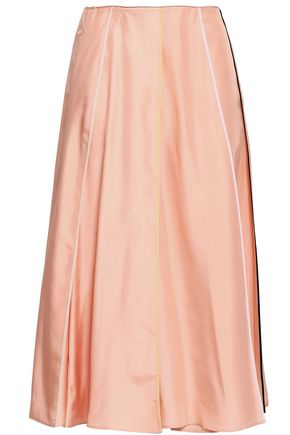 EMILIO PUCCI Pleated silk midi skirt
