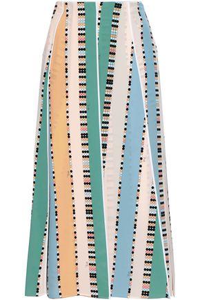 EMILIO PUCCI Printed silk crepe de chine midi skirt