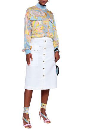 EMILIO PUCCI Cotton-piqué midi skirt