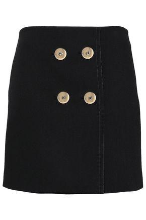 EMILIO PUCCI Button-embellished crepe mini skirt