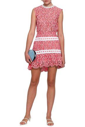 SANDRO Corded lace mini skirt