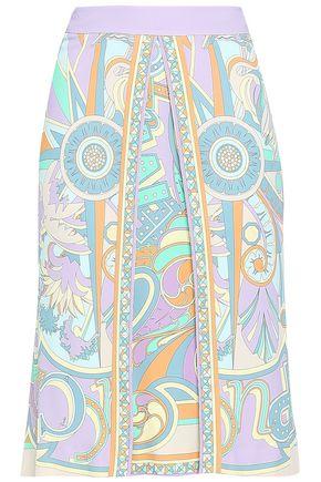 EMILIO PUCCI Printed stretch-crepe pencil skirt