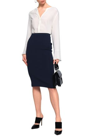 GENTRYPORTOFINO Silk-blend pencil skirt
