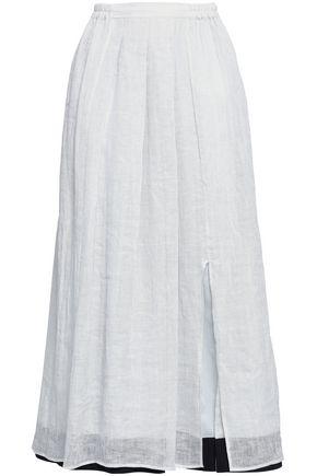 GENTRYPORTOFINO | Gentryportofino Linen-Gauze Midi Skirt | Goxip