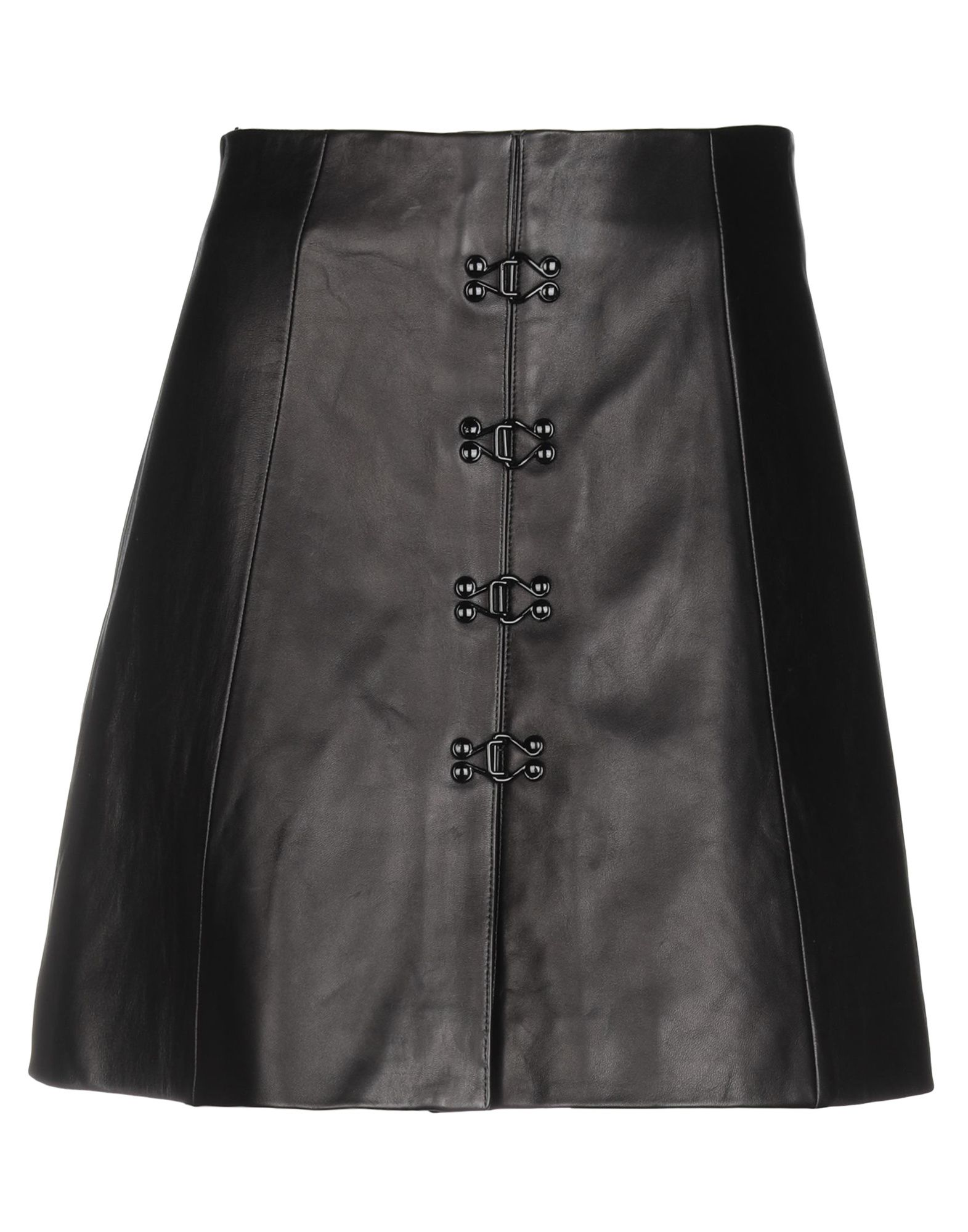 《期間限定セール中》OLIVIER THEYSKENS レディース ミニスカート ブラック 38 羊革(ラムスキン) 100%