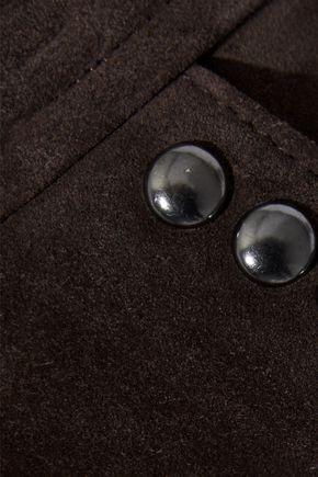 FRAME Studded suede mini skirt
