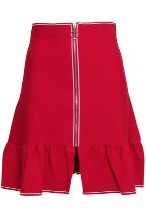 SANDRO Gathered stretch-knit mini skirt