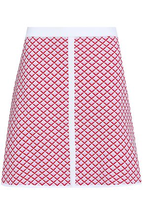 SANDRO Jacquard-knit mini skirt
