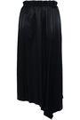 DONNA KARAN Asymmetric draped satin midi skirt