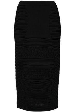 ROBERTO CAVALLI Ribbed-knit midi skirt
