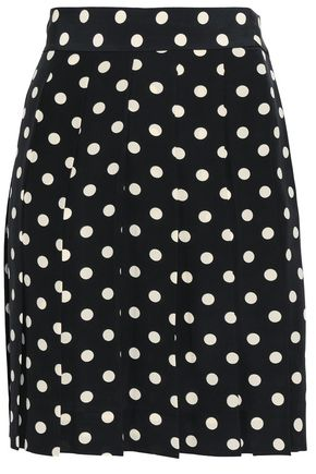 MARC JACOBS Polka-dot silk crepe de chine mini skirt