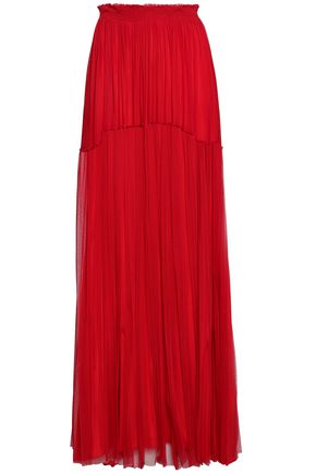 AMANDA WAKELEY Tiered silk-mesh maxi skirt