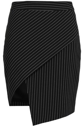 MICHELLE MASON Pinstriped woven mini skirt