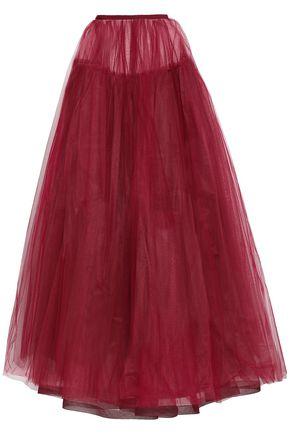 VALENTINO Silk-tulle maxi skirt