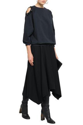 NINA RICCI Asymmetric crepe midi skirt