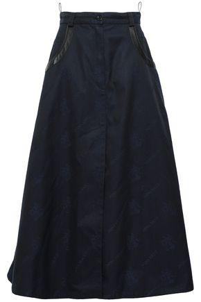 NINA RICCI Flared cotton-blend jacquard midi skirt