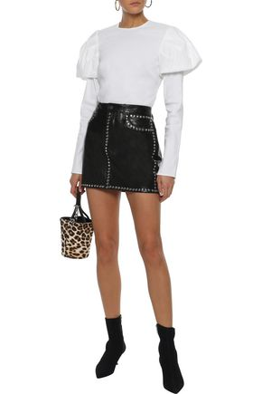FRAME Studded leather mini skirt