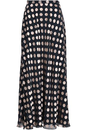 ZIMMERMANN Polka-dot fil coupé silk-blend maxi skirt