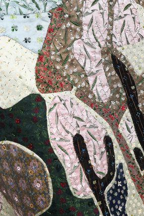 VALENTINO Embellished silk-jacquard midi skirt