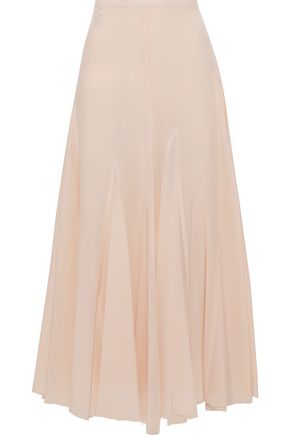 HAIDER ACKERMANN Pleated silk maxi skirt