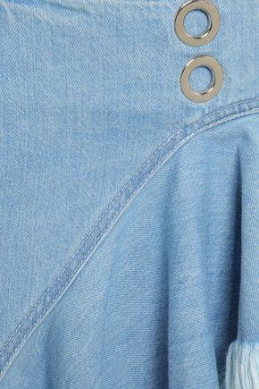 MARQUES' ALMEIDA Frayed denim mini wrap skirt