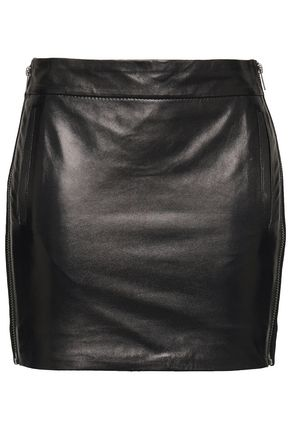 HAIDER ACKERMANN Leather mini skirt