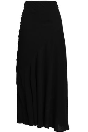 HAIDER ACKERMANN Fluted crepe midi skirt