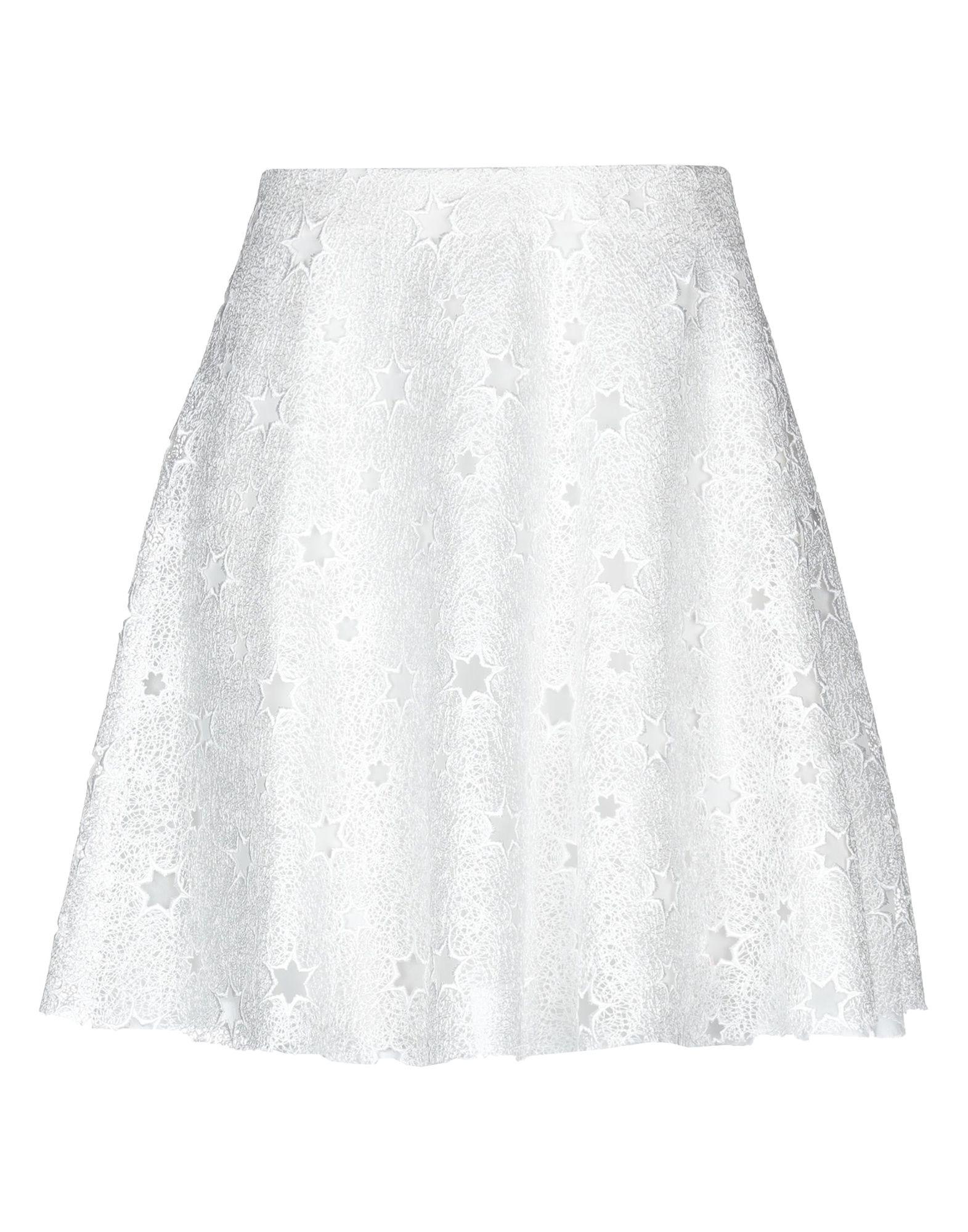 《セール開催中》GIAMBA レディース ひざ丈スカート ホワイト 40 ポリエステル 100%
