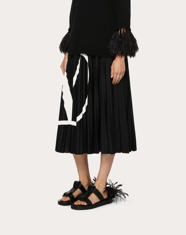 Pleated Jersey Skirt VLOGO