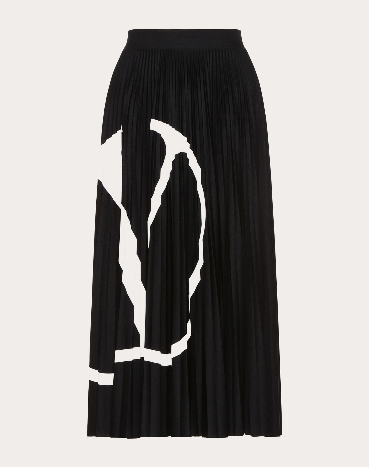 Pleated Jersey Skirt VLOGO