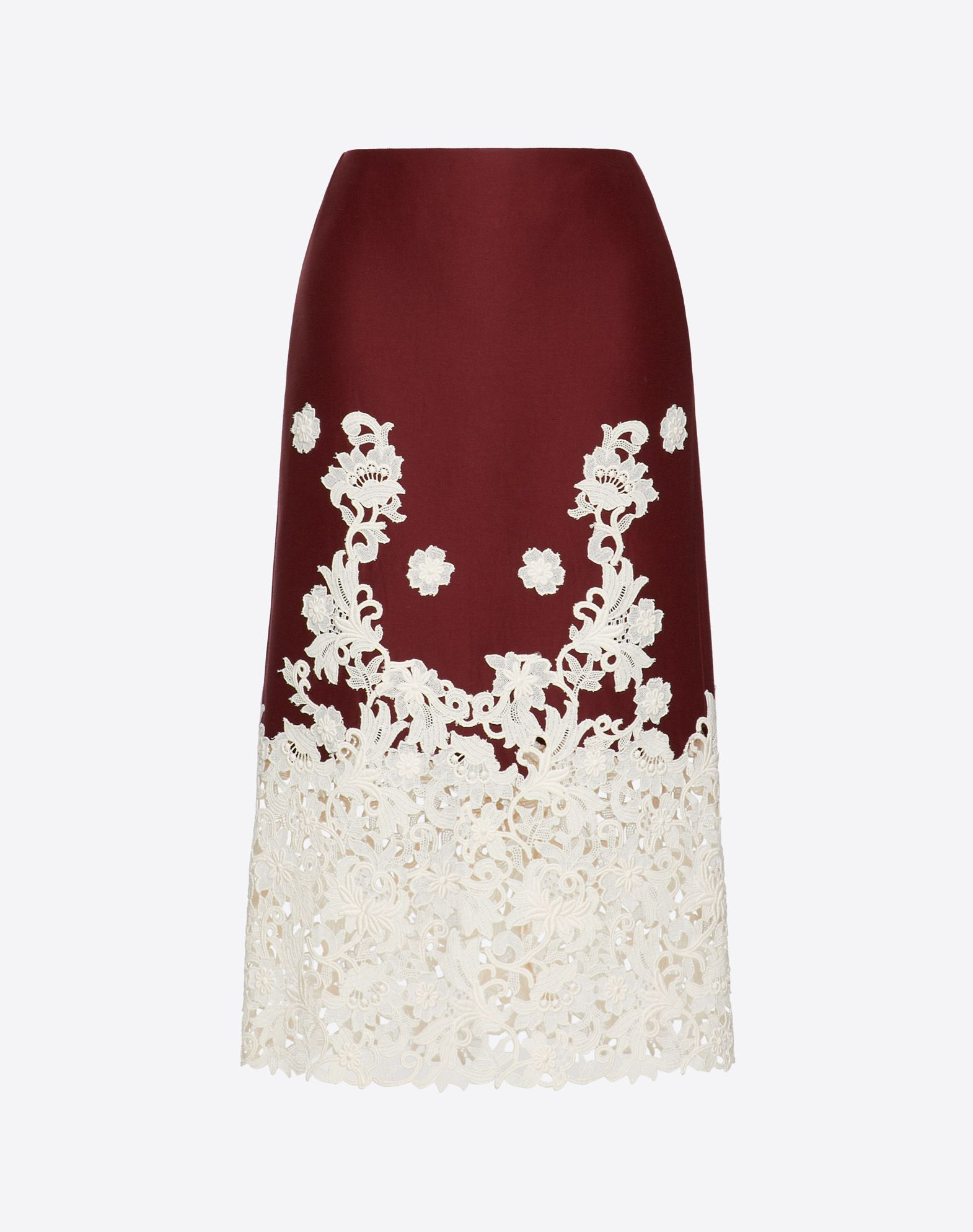 Crepe Couture and Macramé Inlay Skirt