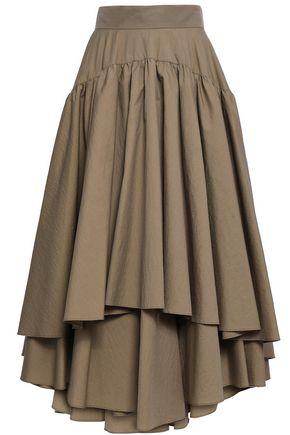 BRUNELLO CUCINELLI Layered cotton-blend maxi skirt