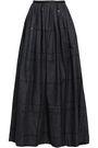 BRUNELLO CUCINELLI Sequin-embellished gathered denim maxi skirt